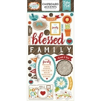 Echo Park - I Love Family Collection - 6x12 Chipboard