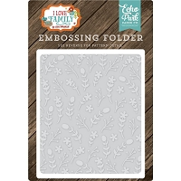 Echo Park - Embossing Folder - I Love Family - Floral Stem