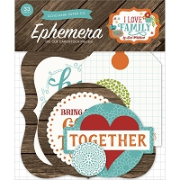 Echo Park - I Love Family Collection - Die Cut Ephemera