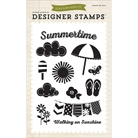 Echo Park - I Love Sunshine Collection - 4x6 Clear Stamp