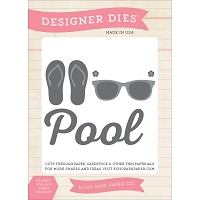 Echo Park - I Love Sunshine Collection - At The Pool Designer Die Set