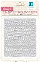 Echo Park - Designer Embossing Folders - Mini Triangles