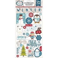 Echo Park - I Love Winter Collection - 6x12 Chipboard