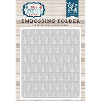 Echo Park - Embossing Folder - I Love Winter - Pine Trees