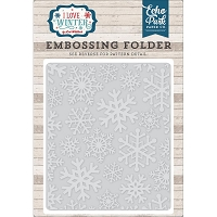 Echo Park - Embossing Folder - I Love Winter - Snowflake #2
