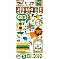 Echo Park - Jungle Safari Collection - 6x12 Chipboard