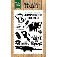 Echo Park - Jungle Safari Collection - It's A Jungle Clear Stamps