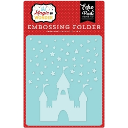 Echo Park - Embossing Folder - Magic and Wonder - Starry Castle