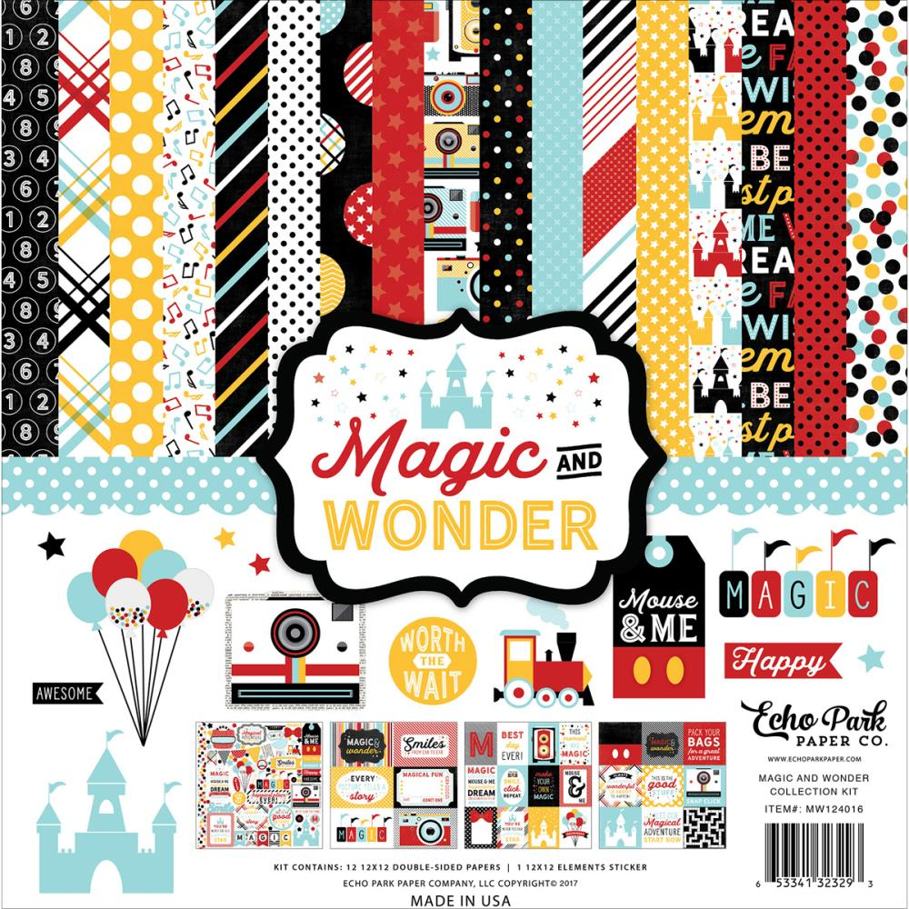 Scrapbook paper echo park - Magic And Wonder Collection