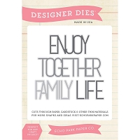 Echo Park - Designer Dies - Family Words