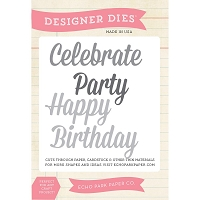 Echo Park - Designer Dies - Celebration Words