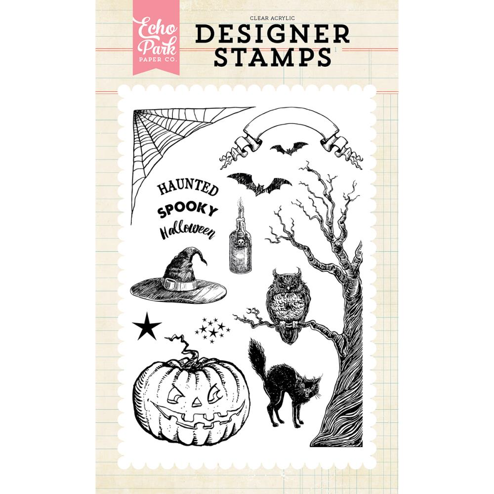 Echo Park - Halloween & Fall Themed Clear Stamps