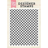 Echo Park - Designer Clear Stamps - Diagonal Plaid A2 Clear Stamp