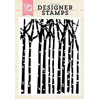Echo Park - Designer Clear Stamps - Winter Trees A2 Clear Stamp
