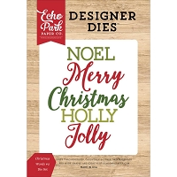 Echo Park - Designer Dies - I Love Christmas Christmas Words #2 Die Set