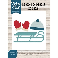 Echo Park - Designer Dies - I Love Winter All Bundled Up Die Set