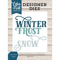 Echo Park - Designer Dies - I Love Winter Winter Words Die Set