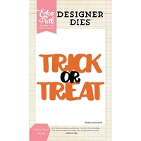 Echo Park - Designer Dies - Trick or Treat word die set