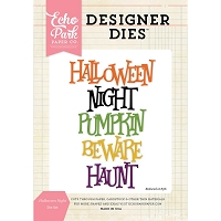 Echo Park - Designer Dies - Halloween Night Word