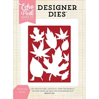 Echo Park - Designer Dies - Leaves background