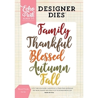 Echo Park - Designer Dies - Blessed Family Word Die Set