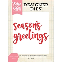 Echo Park - Designer Dies - Season's Greetings Word Die Set