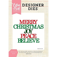 Echo Park - Designer Dies - Christmas Joy Word Die Set