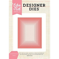 Echo Park - Designer Dies - Stitched Rectangle Nesting Die Set