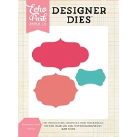 Echo Park - Designer Dies - Decorative Labels Die Set