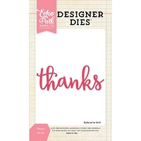 Echo Park - Designer Dies - Thanks word die