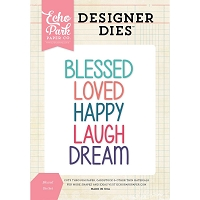 Echo Park - Designer Dies - Blessed Word Die Set