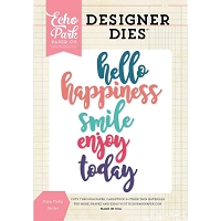 Echo Park - Designer Dies - Enjoy Today Word Die Set