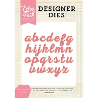 Echo Park - Designer Dies - Kate Lowercase Alphabet Die Set