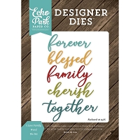 Echo Park - Designer Dies - I Love Family Word Die Set