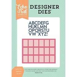Echo Park - Designer Dies - Summer Dreams Letterbox Alphabet Die Set