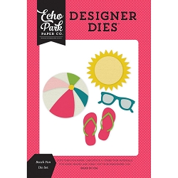 Echo Park - Designer Dies - Summer Fun Beach Fun Die Set