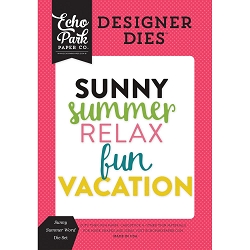 Echo Park - Designer Dies - Summer Fun Sunny Summer Word Die Set
