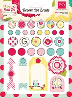 Echo Park - Sweet Girl Collection - Decorative Brads