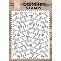 Echo Park - Desinger Clear Stamps - Make Waves Background A2 Clear Stamp