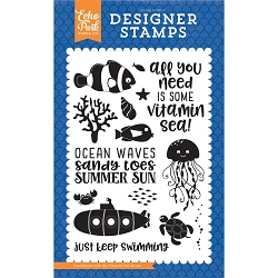 Echo Park - Under The Sea Collection - Vitamin Sea Clear Stamps