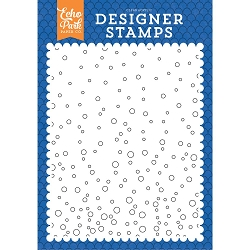 Echo Park - Under The Sea Collection - Bubble Background A2 Clear Stamp
