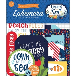 Echo Park - Under The Sea Collection - Die Cut Ephemera