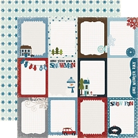 Echo Park Winter Park - 12x12 Paper - Journaling Cards