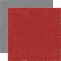 Echo Park Winter Park - 12x12 Paper - Red/Grey