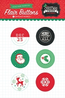 Echo Park - Christmas Cheer Collection - Flair Buttons