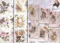 Creatief Art - 3D Card Kit - 6 Flower & Butterflies