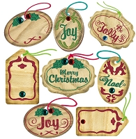EK Success - Jolee's Boutique - Dimensional Stickers - Mini Christmas Oval Tags