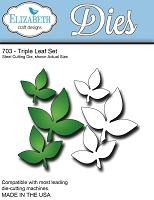 Elizabeth Craft Designs - Die - Triple Leaf Set