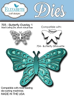 Elizabeth Craft Designs - Die - Butterfly Overlay 1