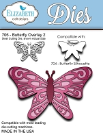 *Elizabeth Craft Designs - Die - Butterfly Overlay 2